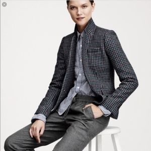 JCREW Regent Blazer Houndstooth Jacket Check Plaid